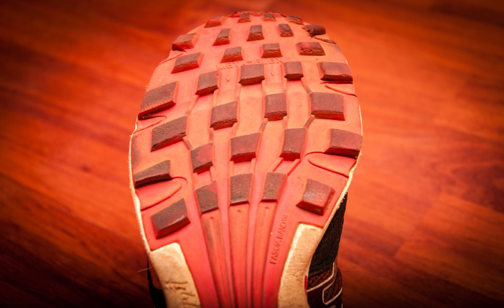 "Inov-8 decided to ""stick"" to what they know work using the trusted Roclite™ outsole with the same aggressive lug pattern."