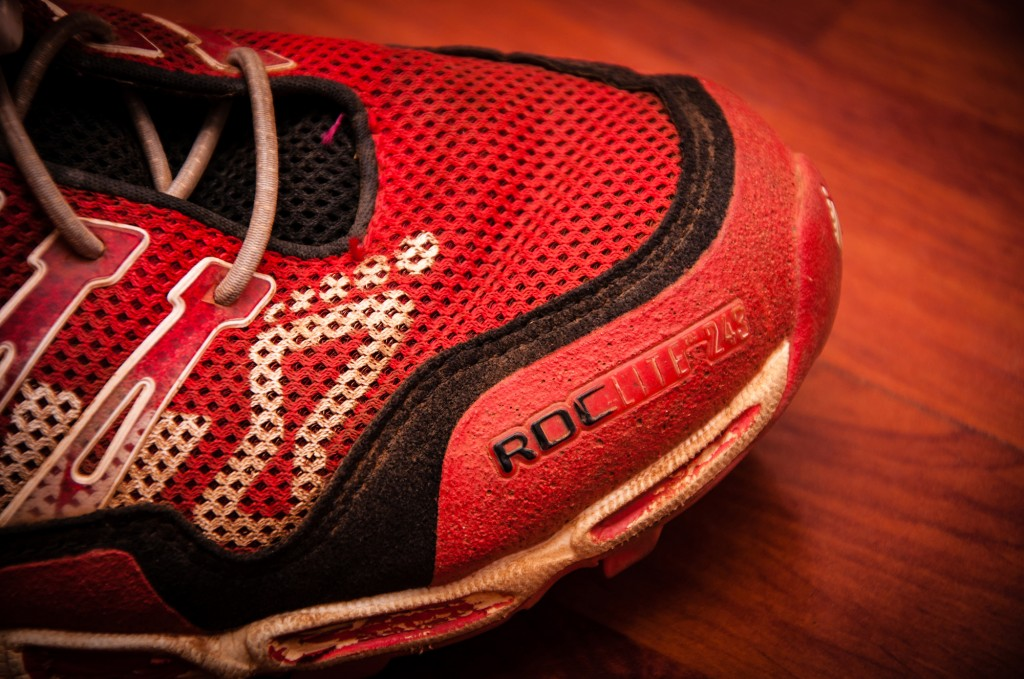 The reinforced toe box provides more than enough protection.