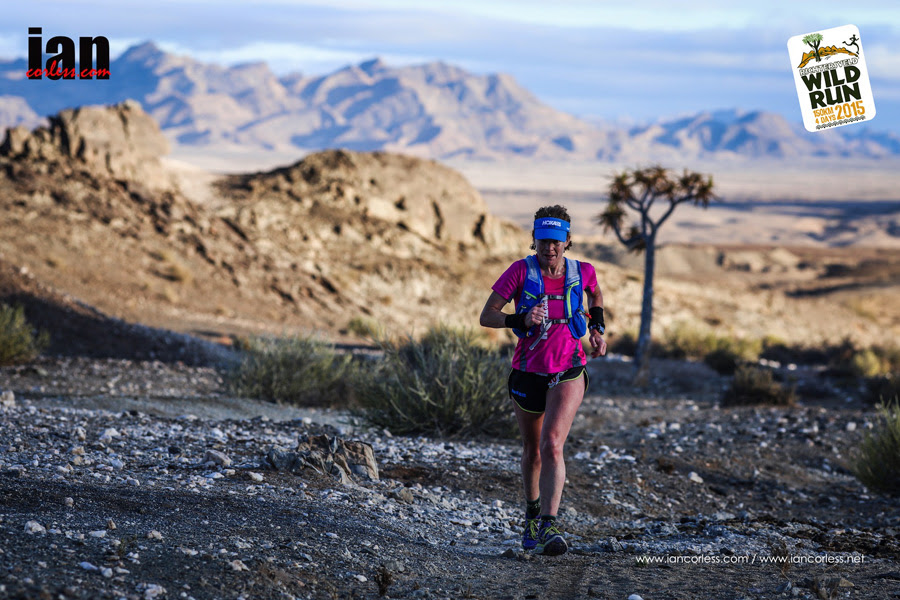 Nikki Kimball at the Richtersveld Wildrun™. Copyright Ian Corless.